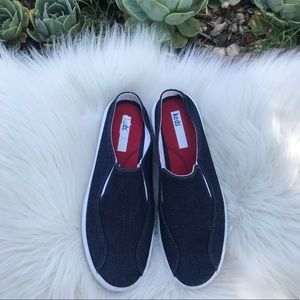 Keds denim slip on sneakers